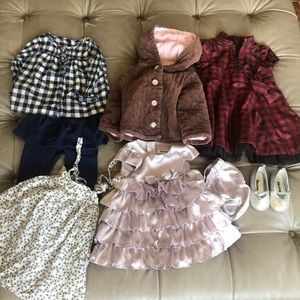 Girl's Bundle Size 12-24 Months